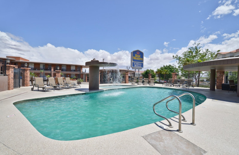 Outdoor pool at Best Western Coral Hills.