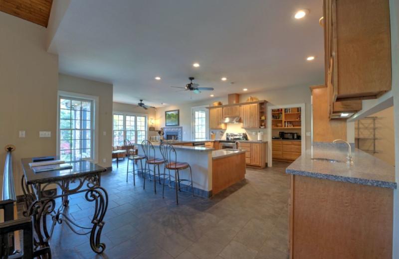 Rental kitchen at Carolina Mornings.