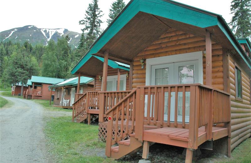 Cabins at Gwin's Lodge & Kenai Peninsula Charter Booking Service.