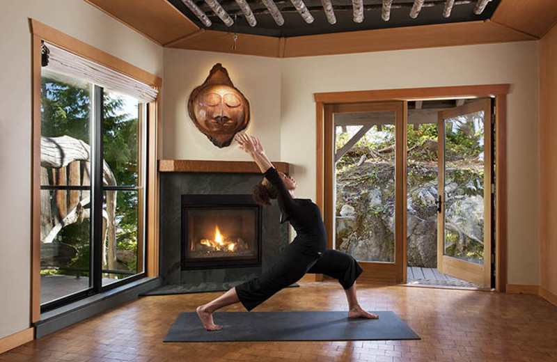 Yoga at Wickaninnish Inn.