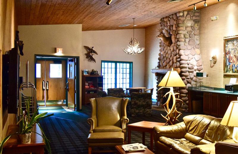 Lobby at Whitetail Lodge.