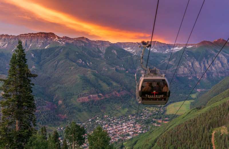 Gondola at Accommodations in Telluride.