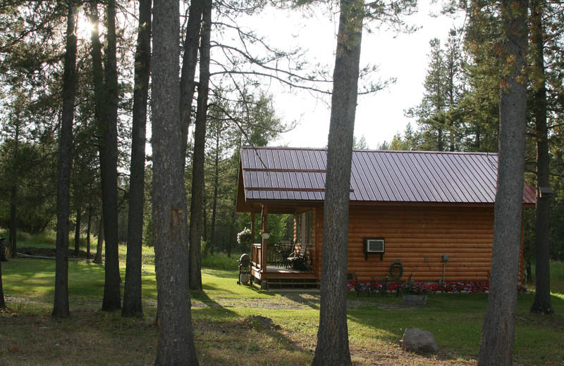 Cabin exterior at Glaciers' Mountain Resort.