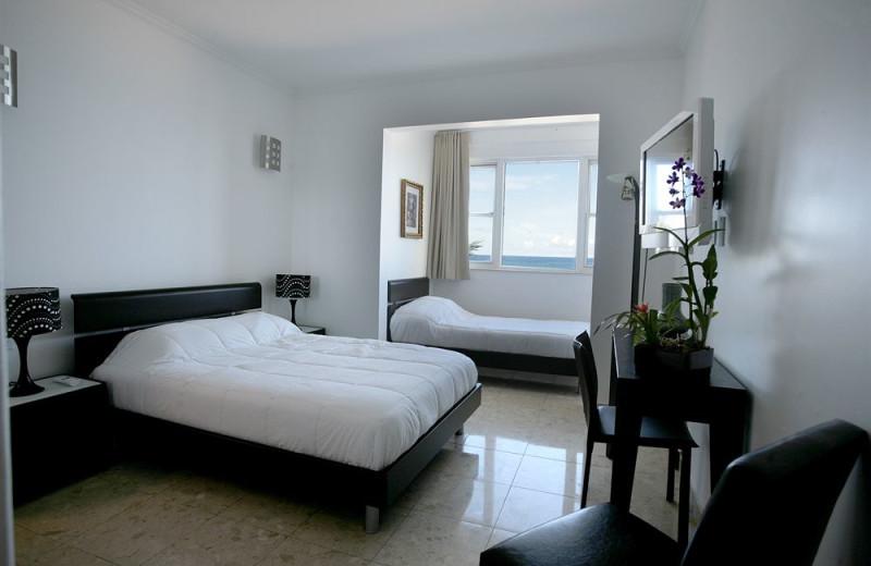 Guest room at Atlantic Beach Hotel.