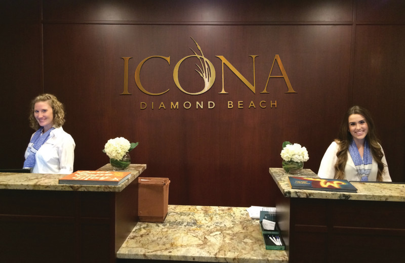 Reception at Icona Resorts Diamond Beach.