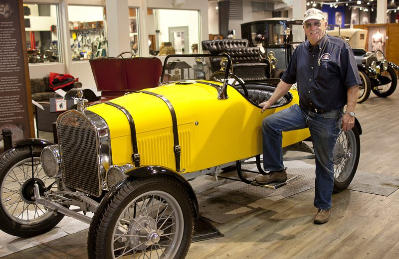 Car museum at Wedgewood Resort.