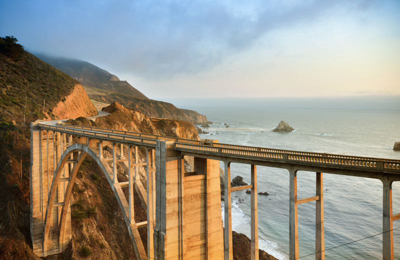 The iconic Bixby Bridge located in Big Sur...