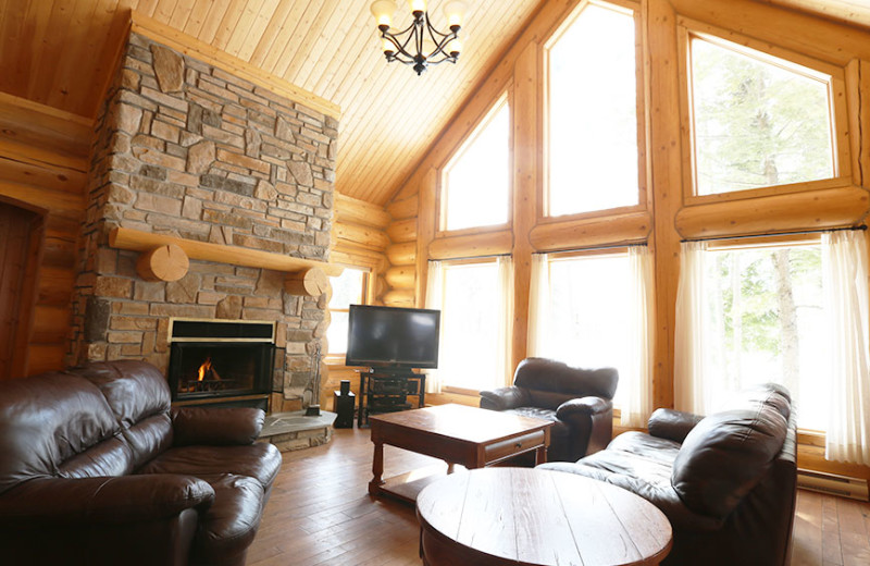 Chalet living room at Fiddler Lake Resort.