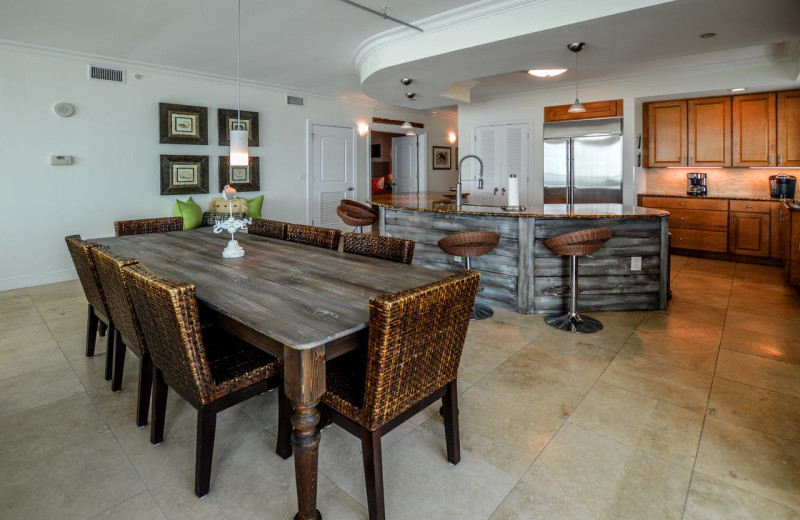 Rental kitchen at Luna Beach Properties.