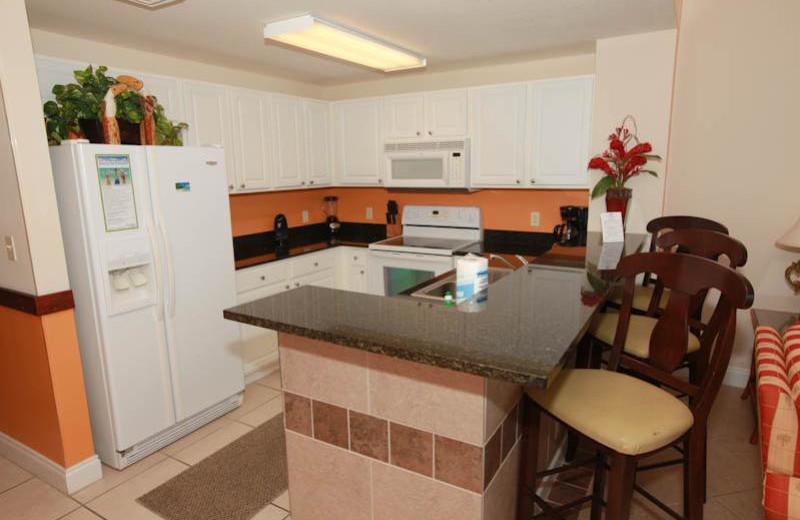 Guest kitchen at Calypso Resort & Spa.