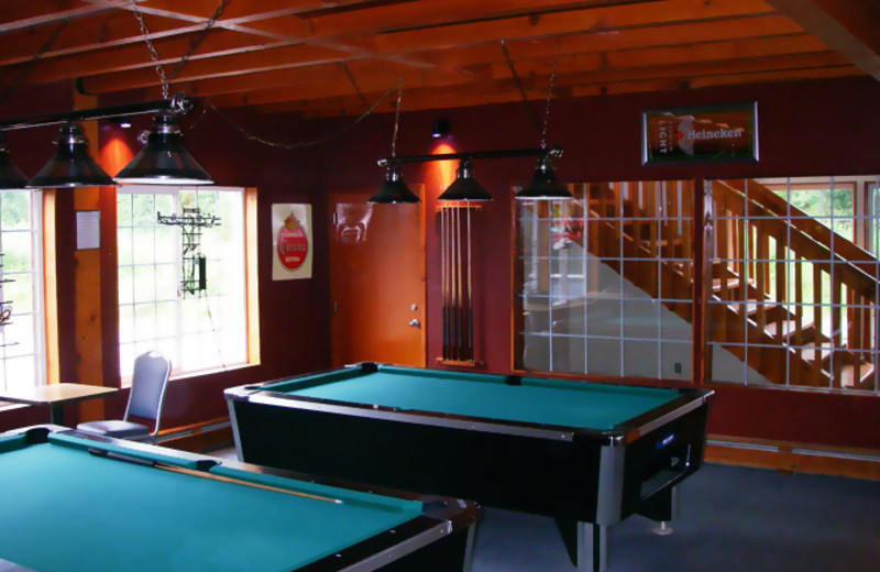 Game room at Glacier Bear Lodge.