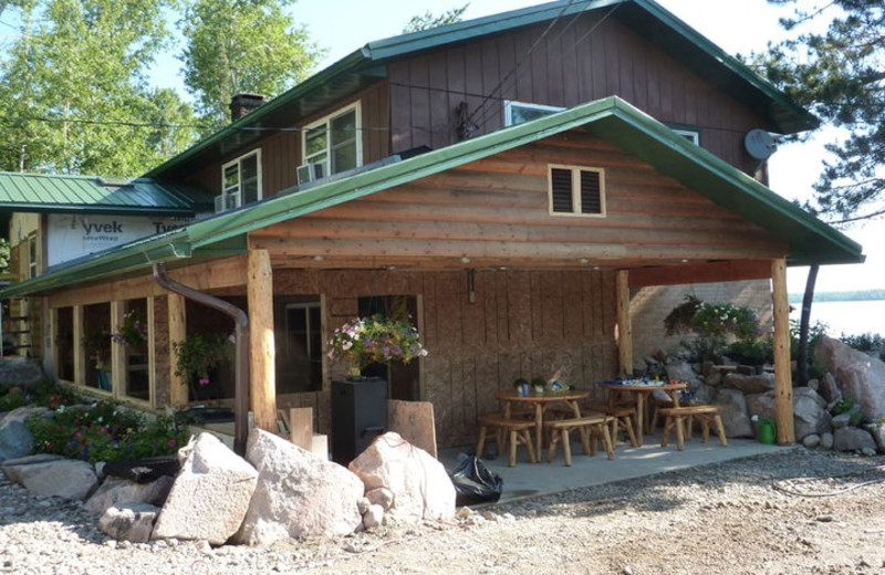 Lodge exterior at Moose Track Adventures Resort.
