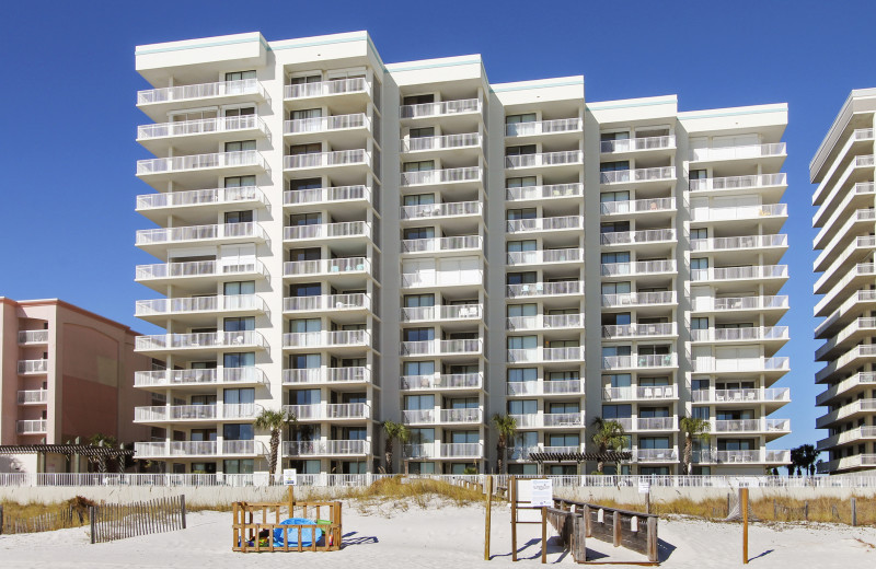 Rental exterior at Gulf Coast Beach Getaways.