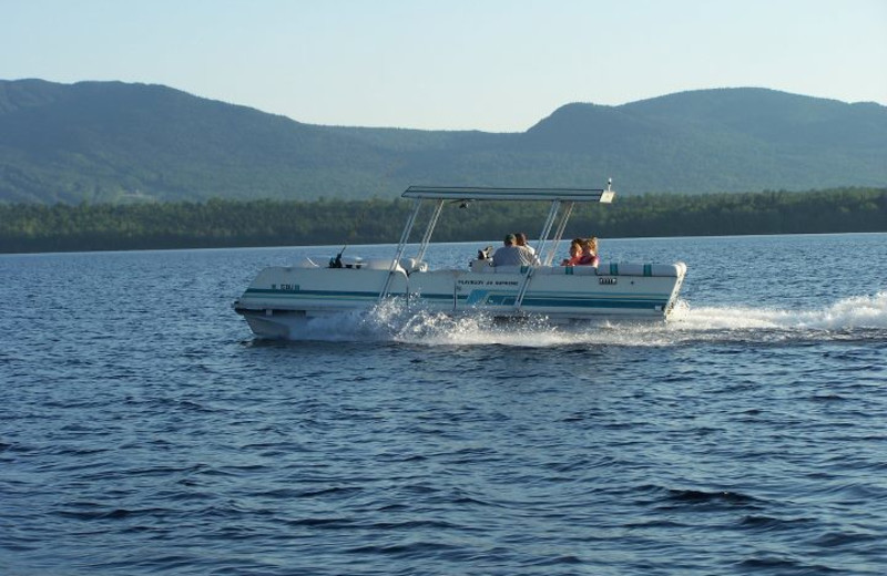 Boating at Wilsons on Moosehead Lake.