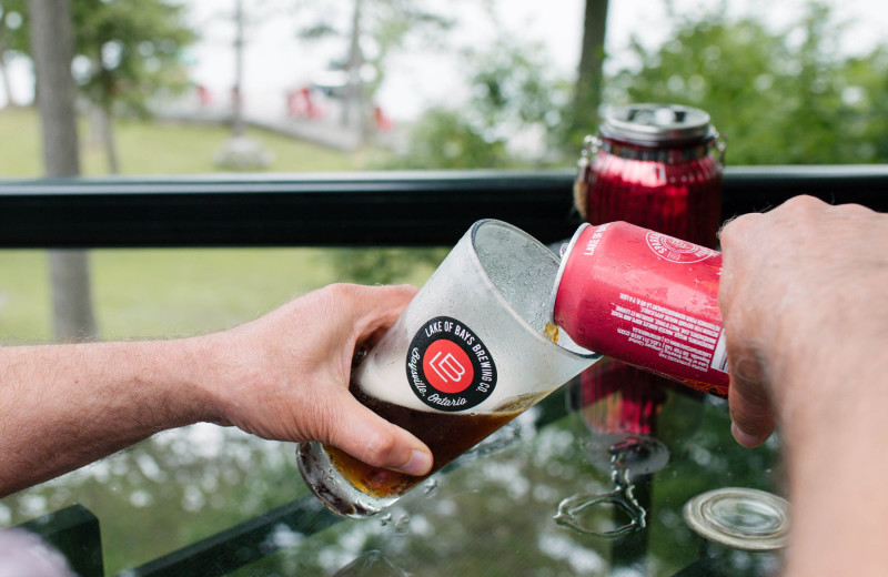 Local craft beer and Ontario Wines are featured while dining at Heather Lodge.