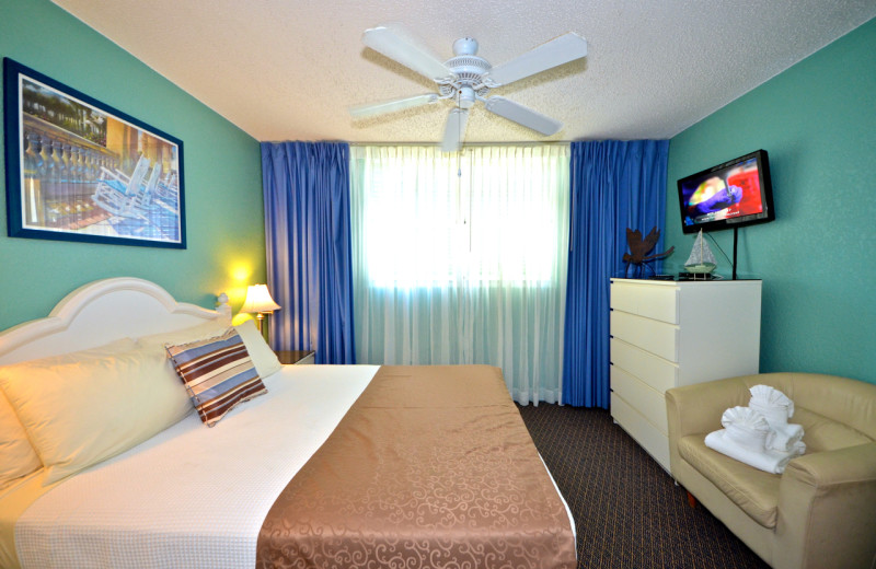 Guest room at Sunrise Suites Resort.