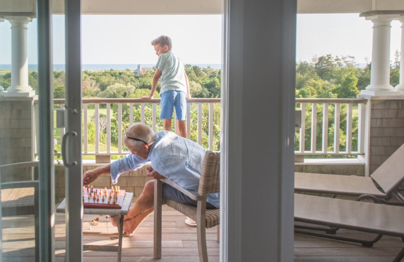 Guest deck at Winnetu Oceanside Resort.