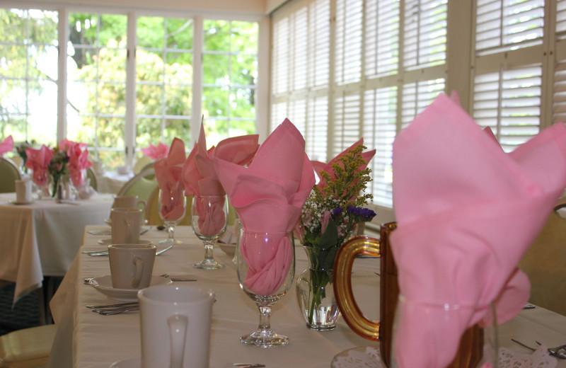 Wedding at reception at Water Gap Country Club.