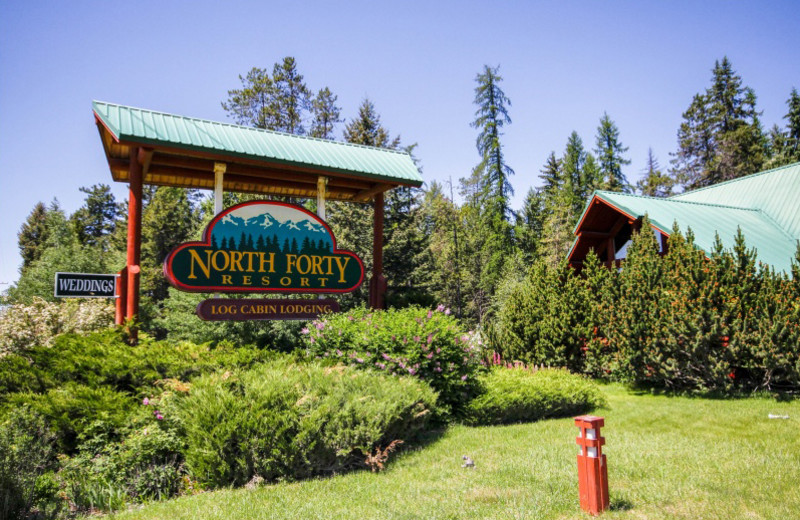 Exterior view of North Forty Resort.