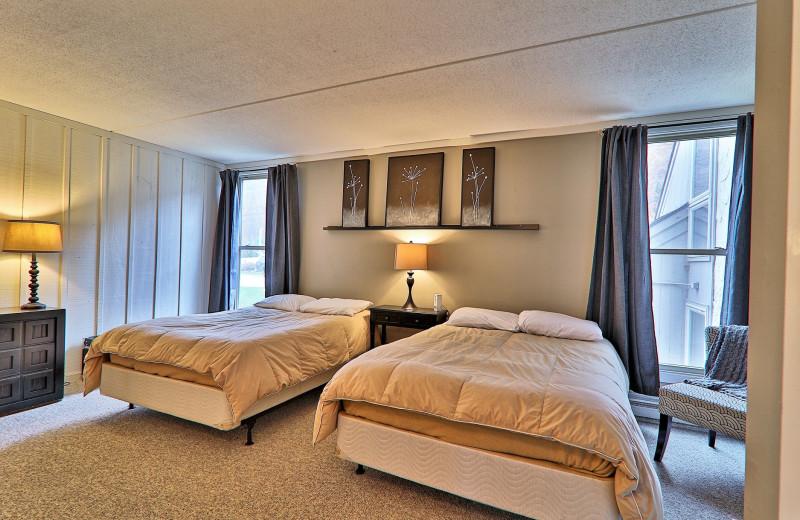 Rental bedroom at Killington Rental Associates.