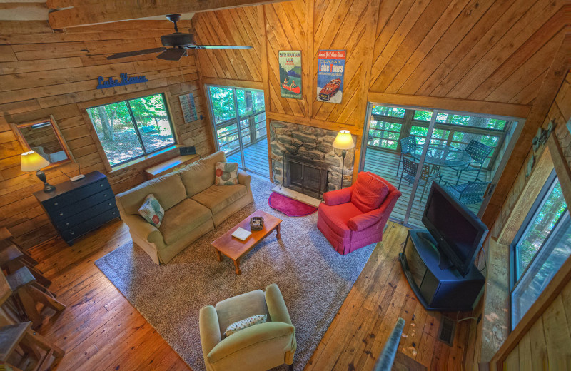 Rental living room at Premier Vacation Rentals @ Smith Mountain Lake.