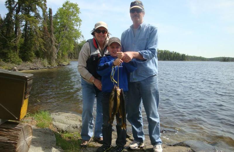 Family Fishing at Woman River Camp