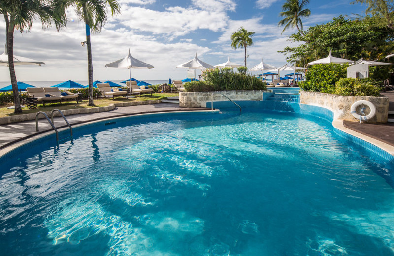 Outdoor pool at The House Barbados.