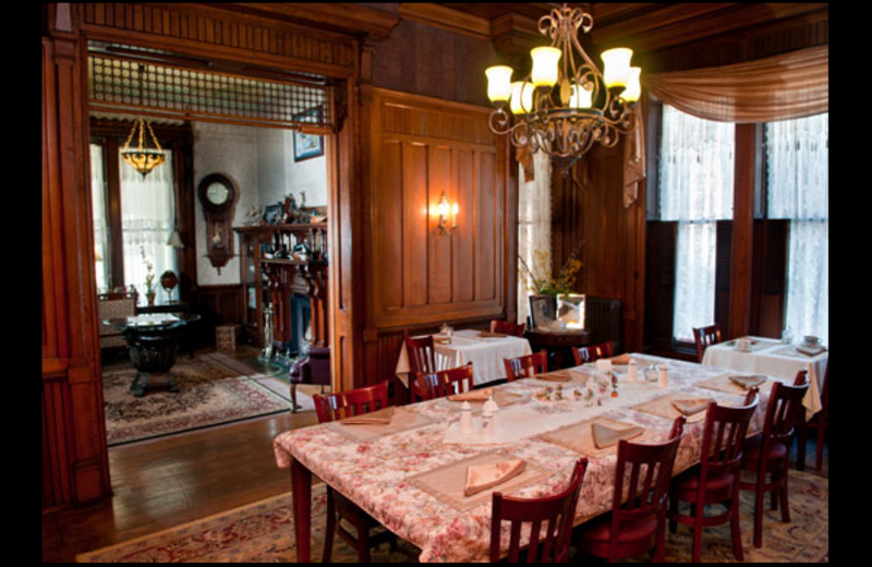 Dining room at Spencer House Bed & Breakfast.