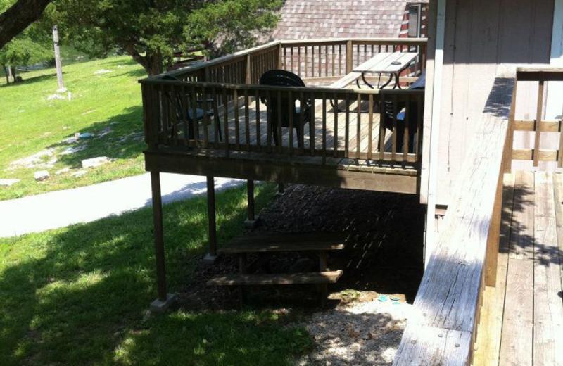 Cabin deck at Artilla Cove Resort.