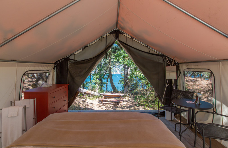 Yurt at Westcliff Lodge.