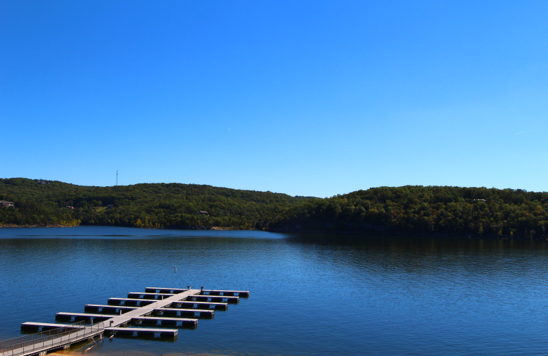 Lake dock at D'Monaco Luxury Resort.