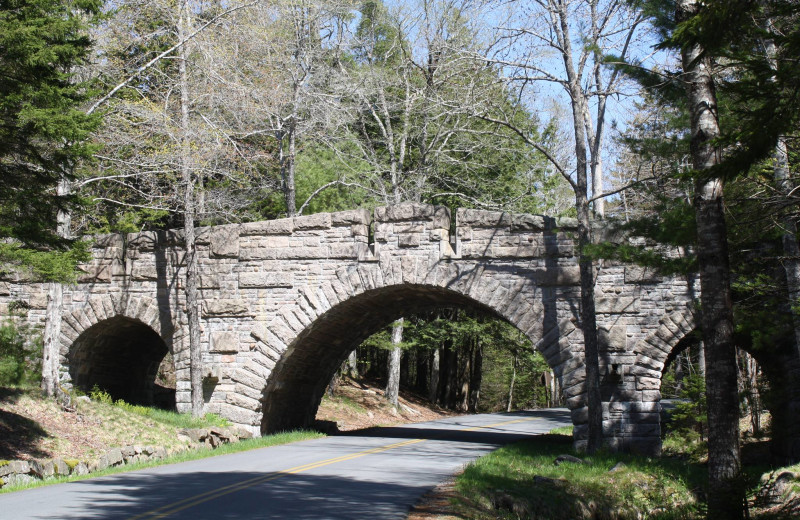 The Stanley Brook carriage road bridge near Aurora Inn & Motel.