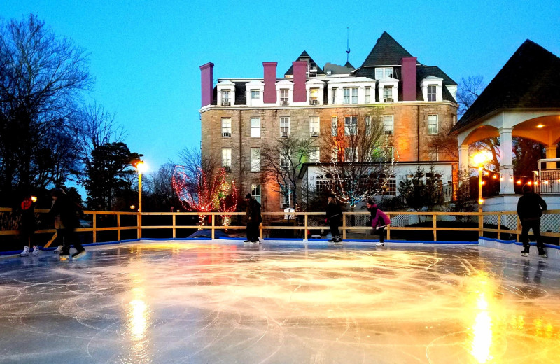 Ice skating at 1886 Crescent Hotel & Spa.