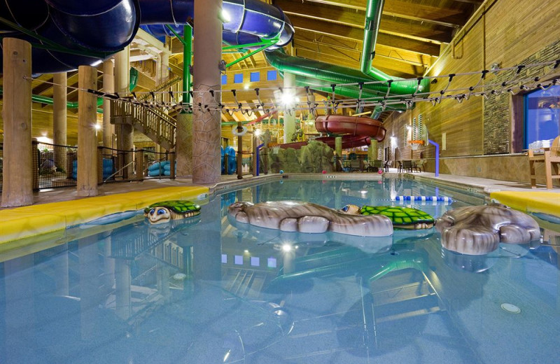 Indoor waterpark at Holiday Inn Express Brainerd/Baxter.