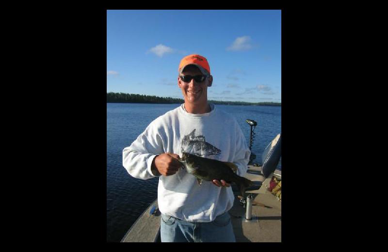 Fishing at Stokes Bay Resort.