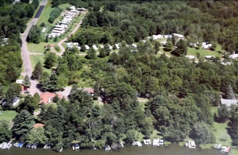 Aerial view of Rose's Bay Resort.