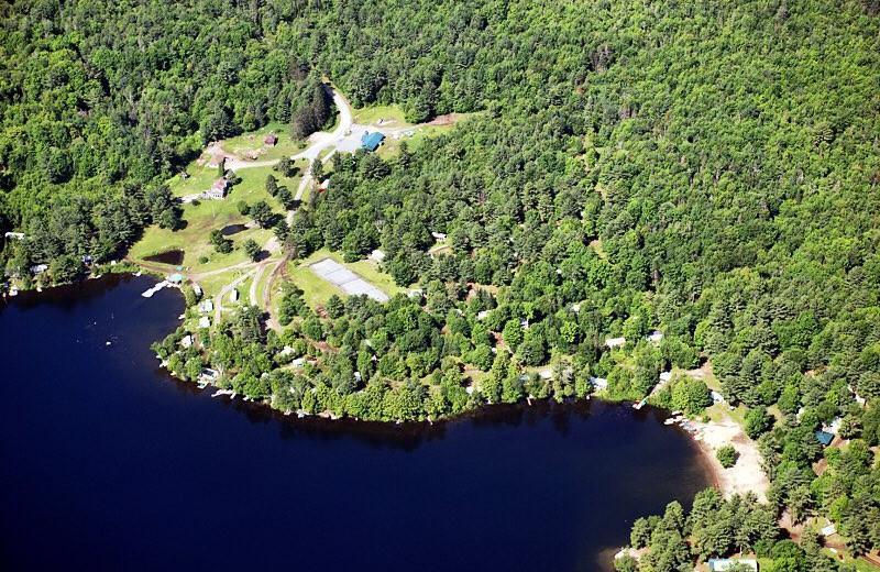 Aerial view of Bonnie Lake Resort.