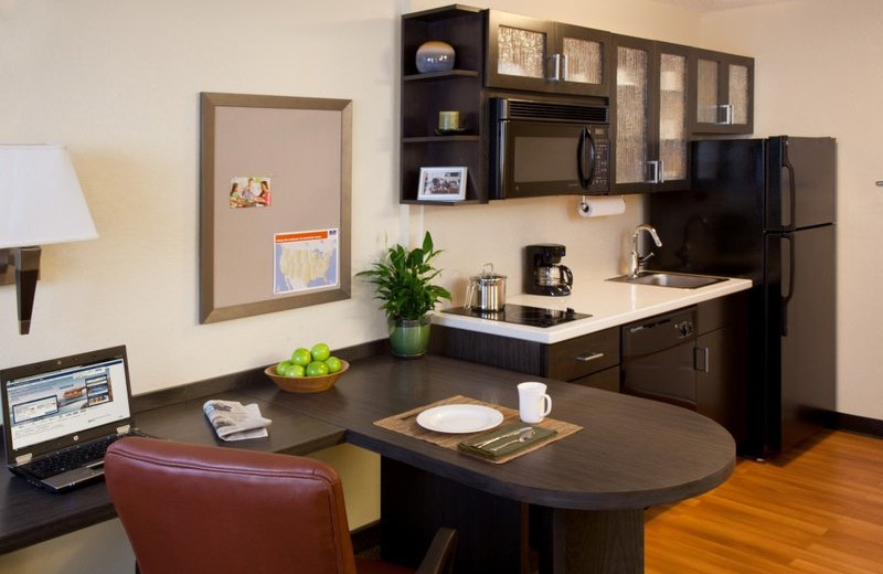 Studio suite at Candlewood Suites Silicon Valley/San Jose.