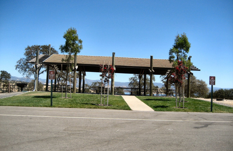 Picnic pavilion at Lake Don Pedro.