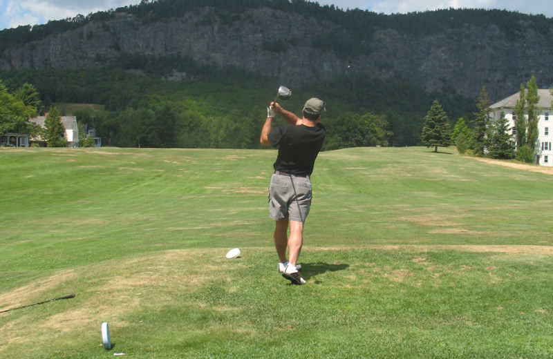 Playing Golf at The Birches Resort