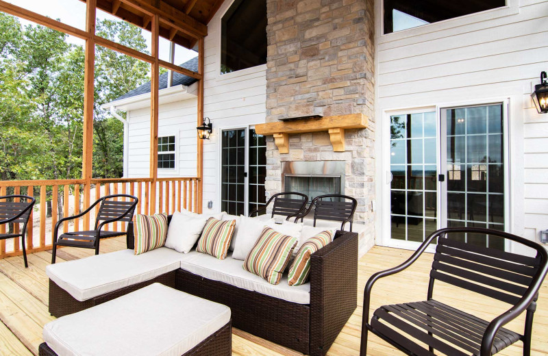 Rental patio at Amazing Branson Cabin Rentals - RentBranson.