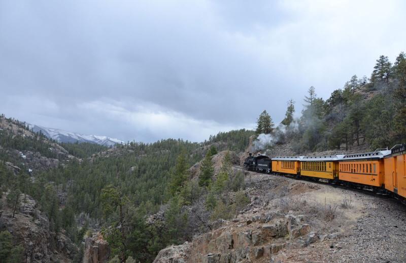 Railroad at Pine River Lodge.