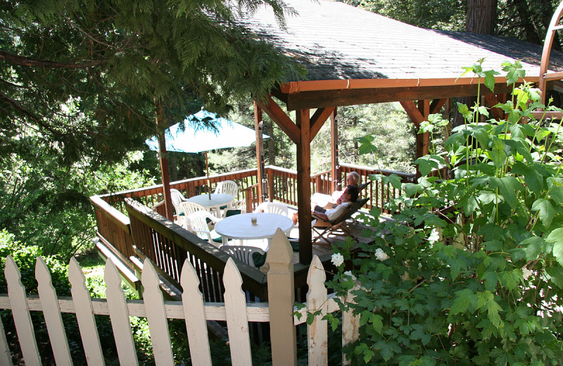 Patio at McCaffrey House Bed and Breakfast.