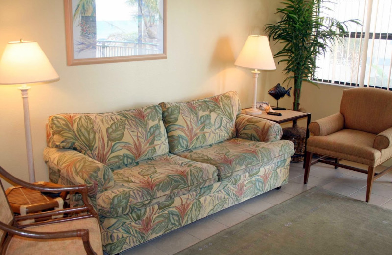Unit living room at Vistas on the Gulf.