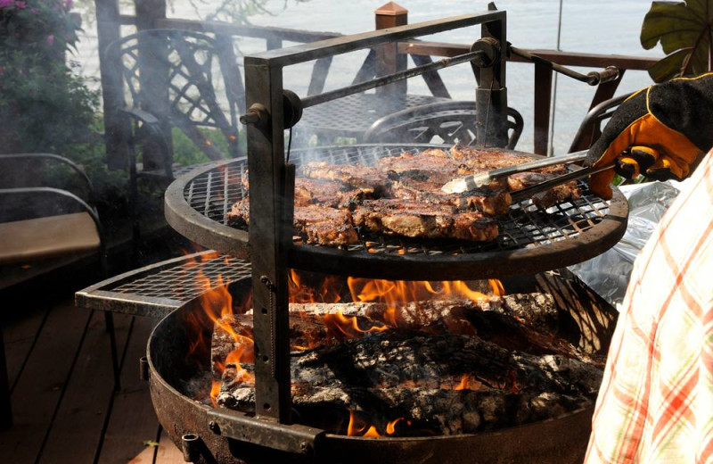 Grilling at Dream Catcher Point Resort.