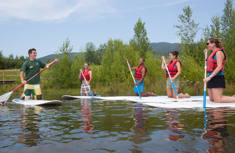 Paddle boarding at Smugglers' Notch Resort.