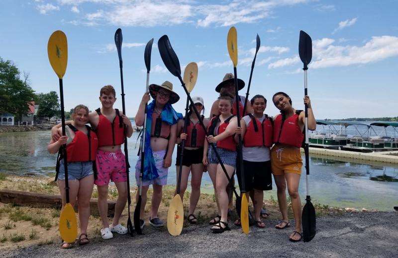 Groups at Riverbay Adventure Inn.