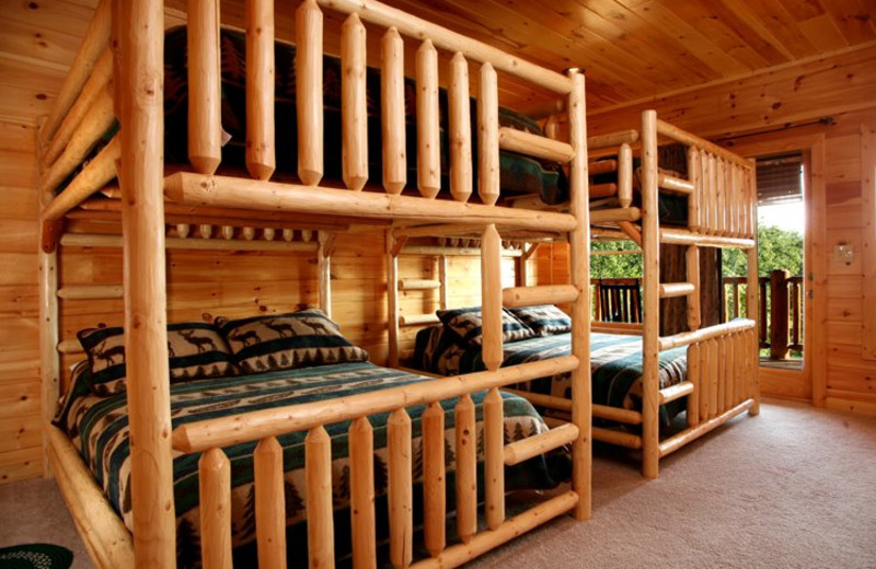 Rental bunk room at Jackson Mountain Homes.