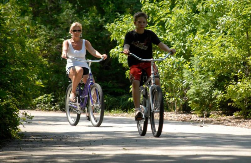 Biking at The Shallows Resort.