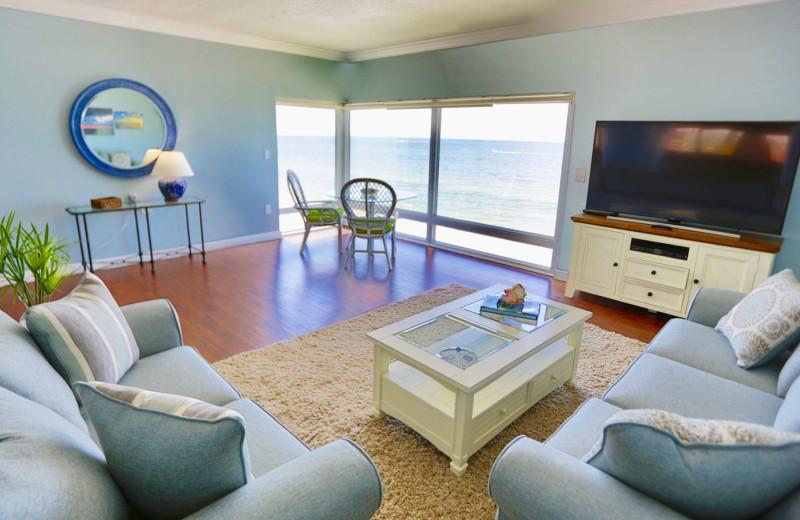 Guest suite at Shoreline Island Resort.
